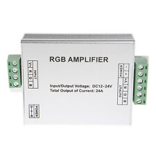 DC 12V-24V Signal Amplifier Repeater 12A/24A LED RGB For 3528 5050 SMD Strips