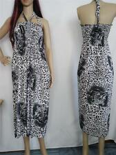 LOVELY Sundress White Gray Black Dress beach casual womens maxi dress M L XL