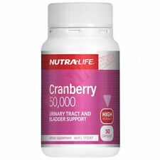 Nutralife CRANBERRY-50000 SUPPLEMENT Urinary & Bladder Health- 50 Or 100Capsules
