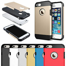 Hybrid ShockProof Slim Armor Tough Case Cover For iPhone 4 5 5S SE 6 6S 7 Plus