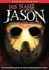 His Name was Jason (DVD, 2009, 2-Disc Set, Splatter Edition)