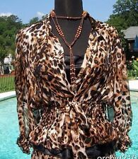 Cache Luxe 100% Silk Lot 2 pcs Cami Top New XS/S/M/L Animal Print Event $148 NWT
