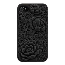 Cute Fashion 3D Sculpture Design Rose Flower Hard Case Cover For iPhone5/5S 6/6s