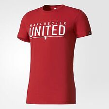adidas Performance MANCHESTER UNITED FC MEN'S GRAPHIC TEE Red- Size S,M, L Or XL
