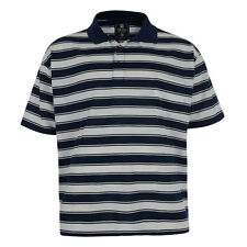 New Mens Big King Size Short Sleeve Large Stripe Polo Shirt