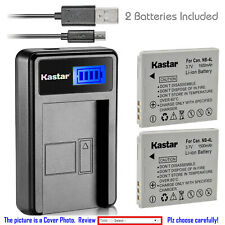Kastar NB-4L NB4L Battery CB-2LV Charger for Canon PowerShot SD30 SD200 SD300