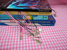Study Book Mark, Many Subjects, Pink/Blue, Great For GCSE A'level & Degree Books