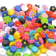 20Pcs Gorgeous Resin Sunflower Spacer Beads, Color - Choose 11MM, 13MM