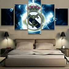 5 Panels Real Madrid FC Canvas Prints Painting Wall Art Sport Home Decor