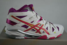 Asics Gel-Sensei 5 MT White Magenta Lime Volleyball shoes Trainers