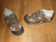 CLARKS boys brown leather STONE MOVER shoes NEW 12.5 F eur 31