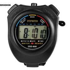 LCD Digital Sports Stop Watch Chronograph Time Date Alarm Timer Count B0N03