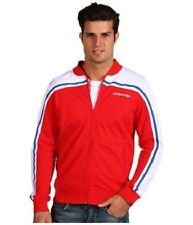 Umbro Mens Red/White/Blue Polyester Retro Football Tracksuit Top Track Jacket
