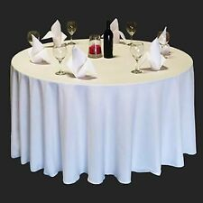 """15 PACK 90"""" inch ROUND Tablecloth Polyester WEDDING Banquet Overlay 25 Colors"""