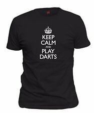 Men's Keep Calm And Play Darts T-Shirt Dart Player Team League Shirt FREE S&H!