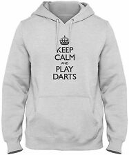 Men's Keep Calm And Play Darts Hoodie   Player Team League Sweatshirt FREE S&H!
