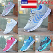US Womens Mesh Ultra Light Lace Up Sneakers Sport Tennis Running Jogging Shoes