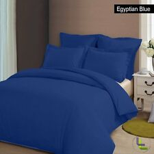 MEGA SALE EXPORT QUALITY 1000TC SOFT EGYPTIAN BLUE SOLID 100% COTTON BEDDING ITE