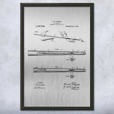 Billiards Pool Cue Stick Framed Patent Art Print Gift