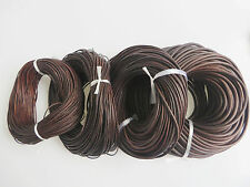 Dark Brown Soft Genuine Leather Cords 1.5mm 2mm 3mm 5mm Round Lace Rope String