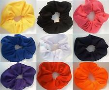 Two Hair Scrunchie Solid Color Orange White Women Pony Tail Holder Accessories