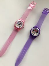 Child Kid Girl Minnie Mouse OR Hello Kitty Plastic Jelly Color Wrist Watch Gift
