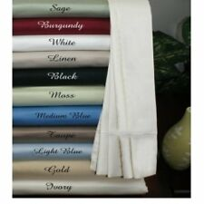 Super King Size Beautiful Solid Colors All Bedding Items 1000TC Egyptian Cotton