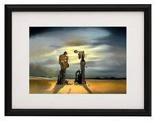 "Salvador Dali Archeological canvas print framed giclee 12,8""x16,7"" poster"