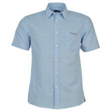 BNWT MENS PIERRE CARDIN BLUE CHECK SHORT SLEEVE  SHIRT FREE POST