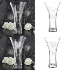 PERSONALISED ENGRAVED Vase Crystal Clear Wedding Anniversary Retirement Gift