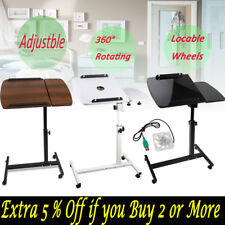 Rotating Mobile Laptop Desk Adjustable Tray Computer iPad PC Stand Bedsid Table