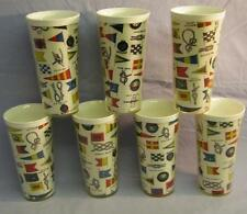 7 Vintage Nautical Sailors Insulated Cups Picnic / Barware Boat Flags Knots