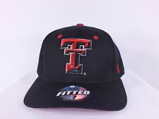 TEXAS TECH RED RAIDERS NCAA ADULT FITTED CAP BY ZEPHYR (C28)