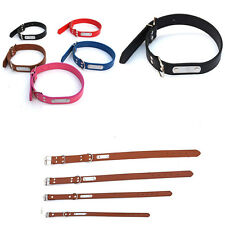 1xNew Leather Pet Dog Cat Puppy Collar Neck Buckle Adjustable Neck Strap Collar