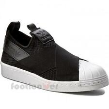 Shoes Adidas Superstar Originals Slip on by2884 Woman Black White Vintage Casual