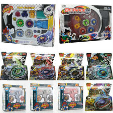 4D Beyblade Metal Fight Masters Fusion Top Rare Rotate Grip Launcher Battle Set