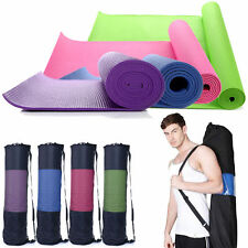 Extra Thick Non-slip Yoga Mat Pad Exercise Fitness Pilates Bag 68 x 24 inches
