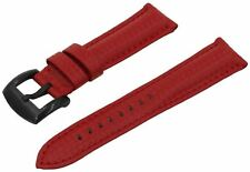 SWISS REIMAGINED Watch Band Calfskin Leather Strap Brushed Black Buckle