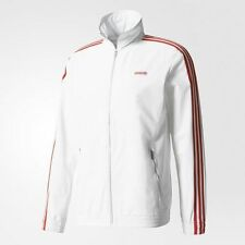 adidas Originals MODERN MEN'S TRACK JACKET Elastic Cuffs,White- Size L,XL Or 2XL