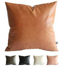 Kdays Faux Leather Crocodile Pillow Cover Decorative Throw Pillow 18 x 18 Inches