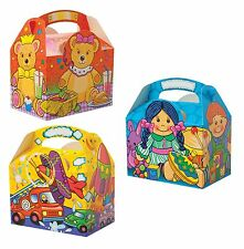 Childrens Kids Toy Box Birthday Party Box Bag Loot Favour Carry Boxes Food
