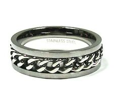 Link Chain Promise Ring in Stainless Steel  Plus Size 14