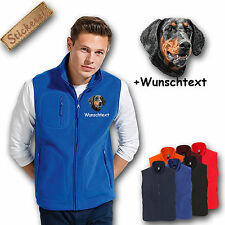 Fleece vest Fleece Vest Embroidered Embroidery Dog Dobermann undocked +Name