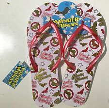 Primark Ladies Girls WONDER WOMAN Flip Flops Sandals Thongs Beach Swim UK