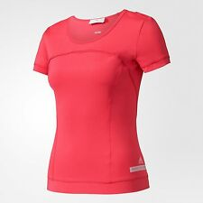adidas by Stella McCartney WOMEN'S PERFORMANCE TEE Ruby Red- Size XS, S, M Or L