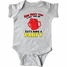 Inktastic Red Sippy Cup Infant Creeper Toby Keith Funny Baby Humor Laughs Gift