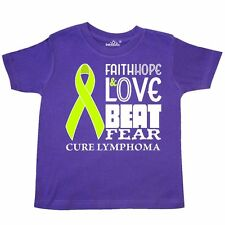 Inktastic Faith, Hope, And Love Beat Fear- Cure Lymphoma Toddler T-Shirt Cancer