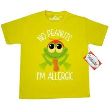 Inktastic Peanut Allergy Frog Youth T-Shirt Allergies Nut Food No Peanuts To Tee