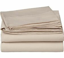 "600 Thread Count 4 Piece Bedsheet Set TAUPE 18"" Pocket  Egyptian Cotton 600TC"