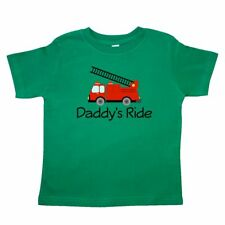 Inktastic Fire Truck Daddy's Ride Toddler T-Shirt Firefighter Ladder Family Kids